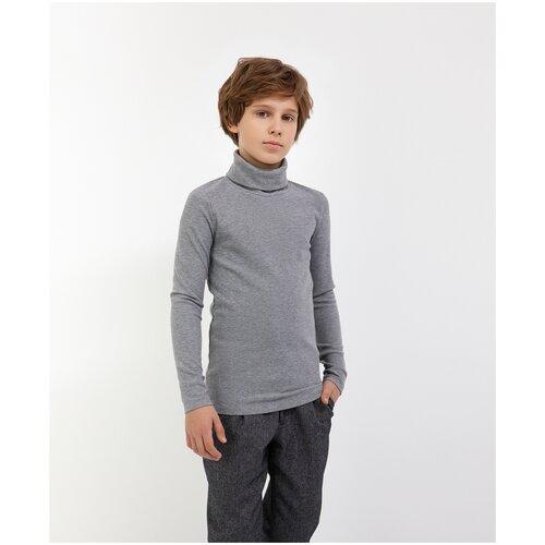 Водолазка серая Gulliver для мальчиков, цвет серый, размер 134, модель 200GSBC1801
