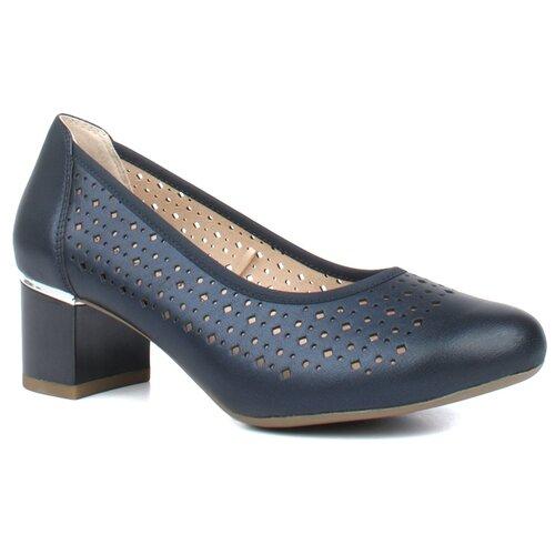 Туфли Caprice , размер 38 , темно-синий туфли блестящие с цветочком темно синий