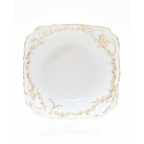 Салатник Cmielow Rococo 7830 Anna рисунок золотом 17 см. тарелка cmielow rococo плоская 25см фарфор 0031190 rococo