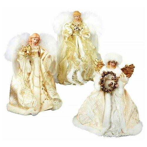 Фото - Верхушка ёлочная зимний ангел, полистоун, текстиль, 30.5 см, разные модели, Kurts Adler ёлочная игрушка кошечка делфтский фарфор 10 см разные модели kurts adler j0936