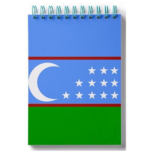 Блокнот для зарисовок, скетчбук Флаг Узбекистана