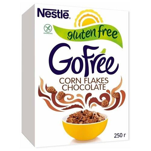 Фото - NESTLE® GOFREE. Хлопья кукурузные шоколадные, обогащенные витаминами 250 г хлопья кукурузные nestle gold snow flakes 300 г