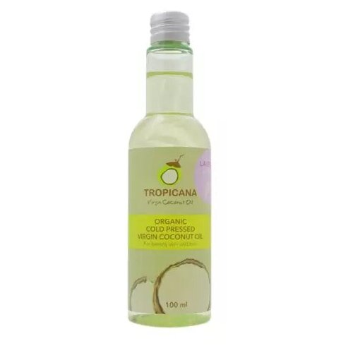 Фото - Tropicana Масло кокосовое для кожи и волос «лаванда» - Organic virgin coconut oil lavender, 100мл масло кокосовое для тела extra premium virgin coconut oil масло 500мл