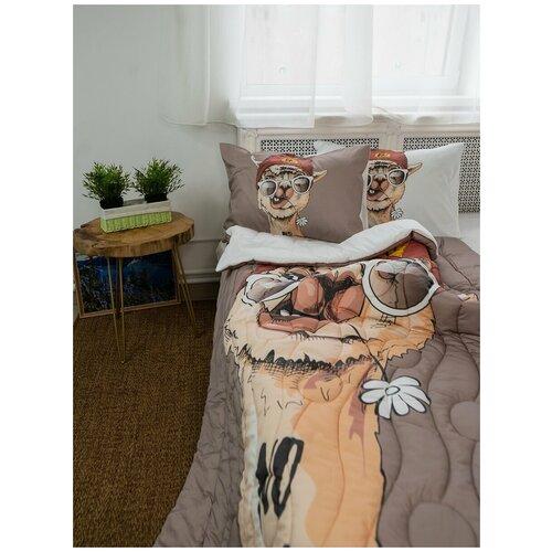 Одеяло стеганое, 1,5 спальное,лама.