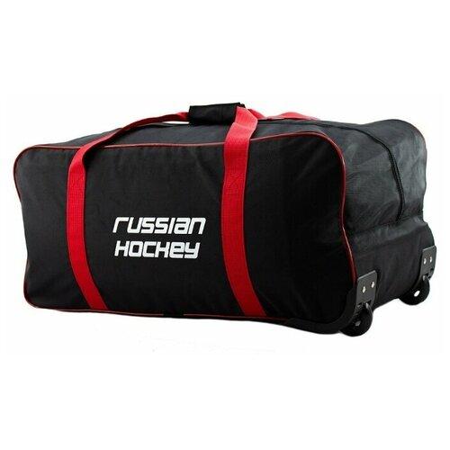 Баул хоккейный на колесах BITEX 24-201 черный/красный