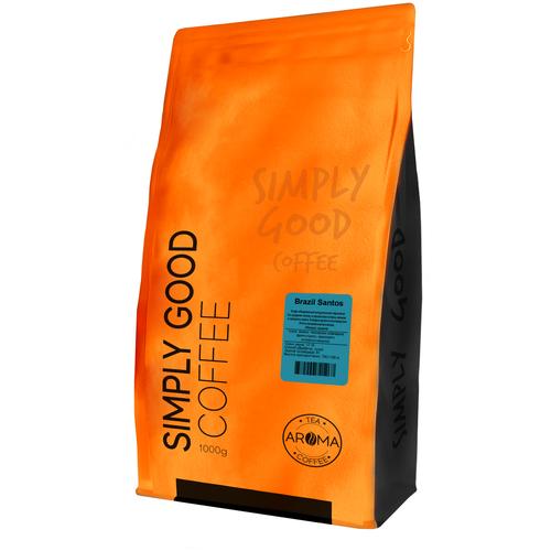 Кофе в зернах Бразилия Сантос (Вес-1000гр.)