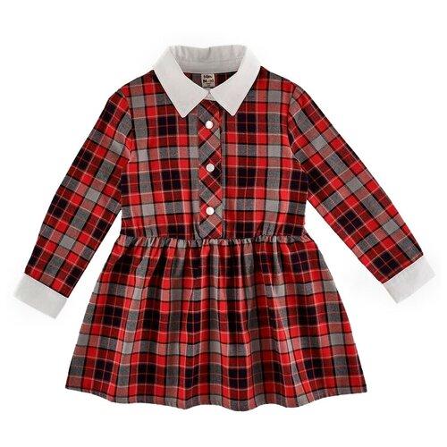 Купить Платье Mini Maxi размер 98, красная клетка, Платья и сарафаны