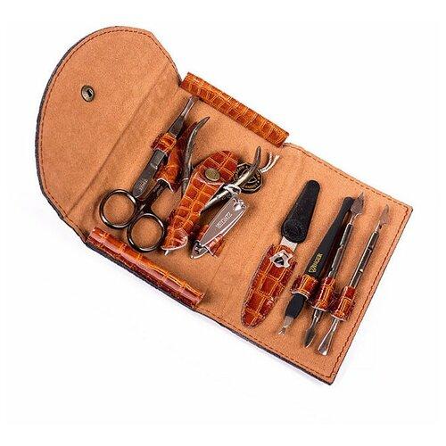 Фото - Маникюрный набор Zinger MS-1402 S, 8 предметов маникюрный набор с косметичкой zinger ms 1205 804 s 10 предметов