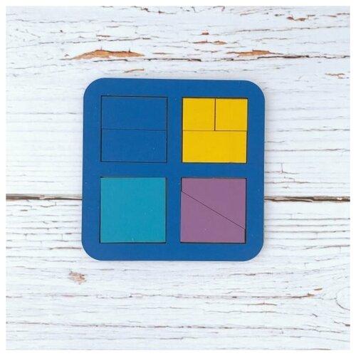 Рамка-вкладыш WoodLand Toys Сложи квадрат, Никитин, 4 квадрата, уровень 1 (064201)