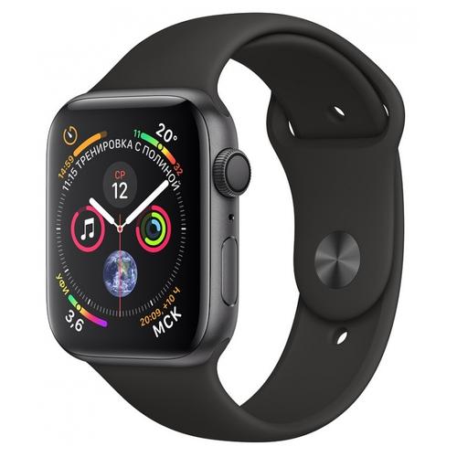 Умные часы Apple Watch Series 4 GPS 40mm Aluminum Case with Sport Band Space Gray умные часы apple watch series 6 gps 44mm aluminum case with sport band white серебристый белый