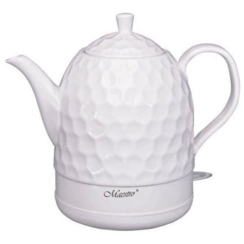 Электрический чайник Maestro MR 072 1,2л. / Чайник электрический, керамика / Маленький электрочайник, белый чайник электрический maestro mr 034 1 7л диск синий