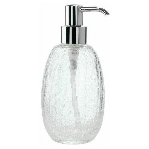 Настольный дозатор StilHaus Cracle с эффектом битого стекла, хром - прозрачное стекло