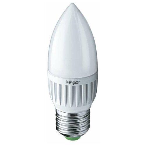 Лампа светодиодная 94 481 NLL-P-C37-5-230-2.7K-E27-FR 5Вт свеча 2700К тепл. бел. E27 330лм 220-240В Navigator 94481 (упаковка 10 шт)