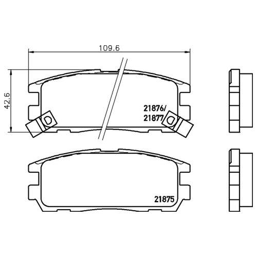 Дисковые тормозные колодки задние NISSHINBO NP4002 (4 шт.)