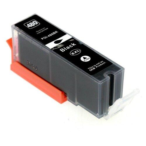 Фото - Картридж для Canon PIXMA TS704, TS6140, TS6240, TS6340, TS8140, TS8240, TS8340, TS9140, TS9540, TS9541C, TR7540, TR8540 (PGI-480PGBK XXL), совместимый, чёрный пигментный Pigment Black, BPI-480PGBK картридж t2 ic cpgi 480pgbk xxl совместимый