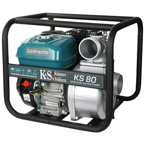 Мотопомпа K&S Könner & Söhnen KS 80 6.5 л.с. 1000 л/мин