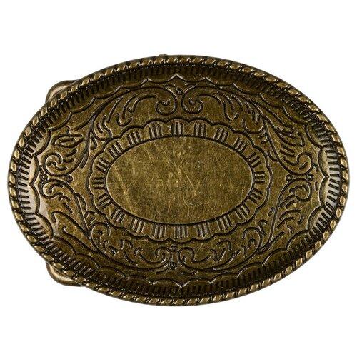 Пряжка для женского ремня Micron, 80x60 мм, цвет: №45 матовое шлифованное серебро, арт. GB 1615