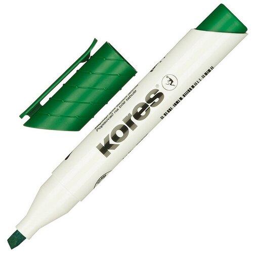 Фото - Маркер для досок KORES зеленый 3-5 мм скошенный наконечник 20855 5 шт. маркер для досок kores красный 3 5 мм скошенный наконечник 20857 3 штуки