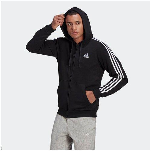 худи adidas id stadium fz Толстовка Adidas M 3S FL FZ HD Черный L GK9051