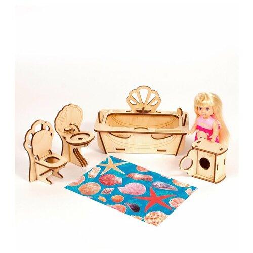 Конструктор теремок Мебель для кукол 10-15 см Ванная