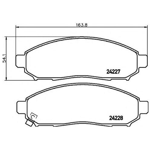 Дисковые тормозные колодки передние Textar 2422701 для Nissan Navara, Nissan Pathfinder, Nissan XTerra (4 шт.)