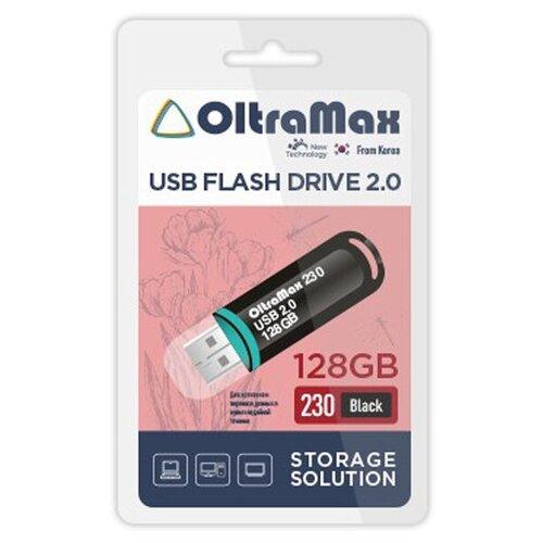 USB Flash Drive 128Gb - OltraMax 230 Black 2.0 OM-128GB-230-Black