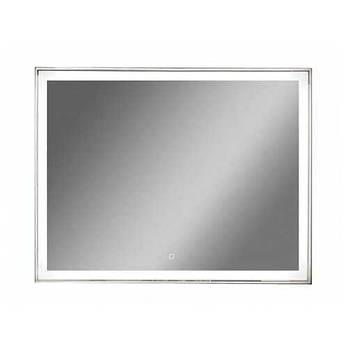 Зеркало Континент Aralia LED 120*70 см, LED подсветка, сенсорный выключатель, часы, антизапотевание