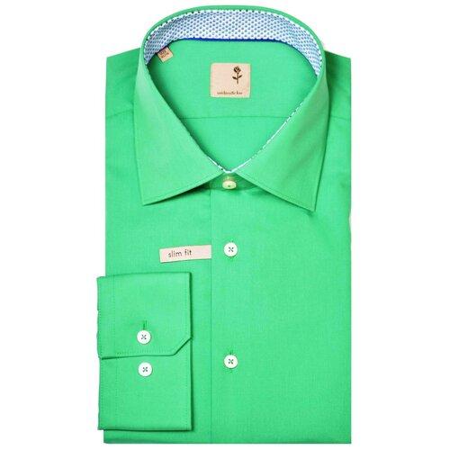 Рубашка Seidensticker размер 42 зеленый