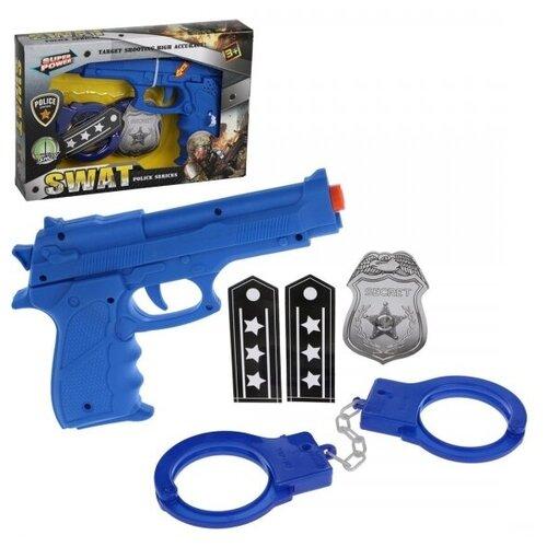 Купить Игр.набор Полиция, в комплекте: предметов 2шт., тестовые эл.пит.LR44*3шт., коробка, Наша игрушка, Игровые наборы и фигурки