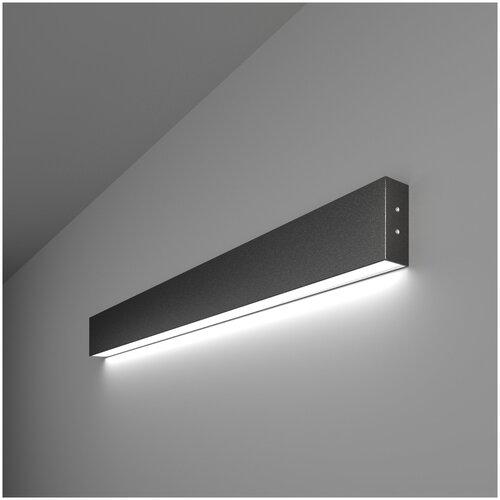 Линейный светодиодный накладной односторонний светильник 78см 15Вт 6500К черный Elektrostandard Pro Линейный светодиодный накладной односторонний светильник 78см 15W 6500K черная шагрень (101-100-30-78)