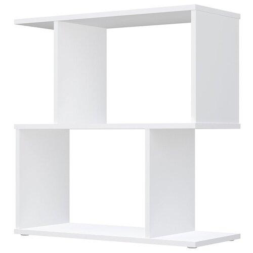 Фото - Стеллаж Polini Home Smart фигурный 2 секции, белый стеллаж 3 секции белый 0 38 0 34 1 11