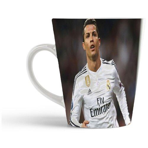 Кружка-латте CoolPodarok Футбол Футболист Кристиан Роналдо