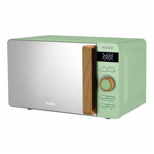 Микроволновая печь Tesler ME-2044 GREEN, 700Вт, 20л. (нерж.сталь)
