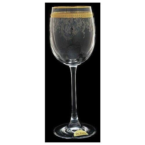 Набор из 6-ти бокалов для вина Золотая полоса втертая платина Объем: 260 мл набор бокалов rona esprit 260 мл 6 шт