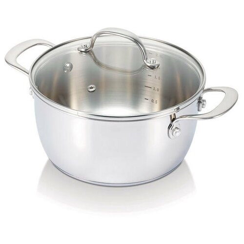 Кастрюля суповая 6,2 л (24 см) BELVIA кастрюля суповая polo 9 л 24 см 12033254 beka
