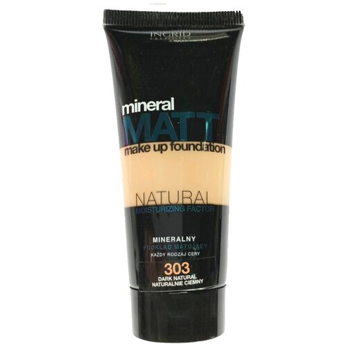 Ingrid Cosmetics Тональный крем Mineral Matt, 30 мл, оттенок: 303 Dark Natural недорого