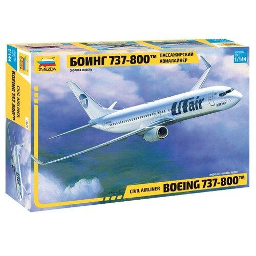 Купить Сборная модель ZVEZDA Пассажирский авиалайнер Боинг 737-800 (7019) 1:144, Сборные модели