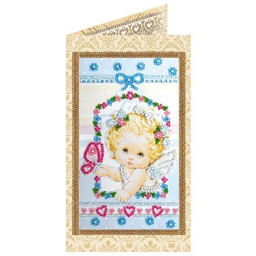 Купить Набор для вышивания бисером АБРИС АРТ AO-136 Ангелочек 8, 4х14см, ABRIS ART, Наборы для вышивания