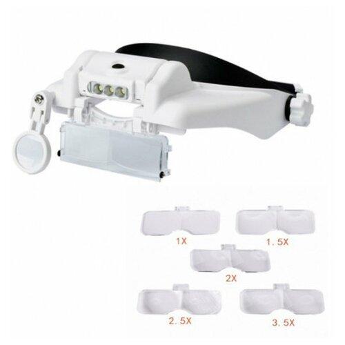 Фото - Лупа налобная с LED подсветкой, бинокулярные очки 3d очки