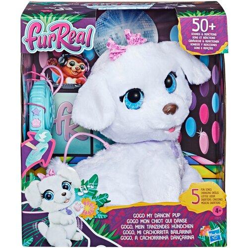 Фото - Интерактивная мягкая игрушка FurReal Friends ГоГо Танцующий Щенок F1971, белый интерактивная мягкая игрушка mioshi active весёлый щенок mac0601 006 белый