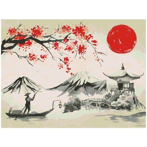 Купить Картина по номерам Японская живопись - Гора Фудзи, 60 х 80 см, Красиво Красим, Картины по номерам и контурам