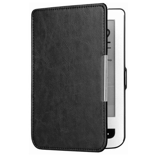 Чехол-обложка футляр MyPads для PocketBook 515 из качественной эко-кожи тонкий с магнитной застежкой черный