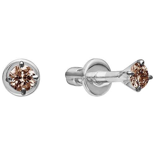 Vesna jewelry Серьги-пусеты 4059-256-09-00 vesna jewelry серьги 2608 256 09 00