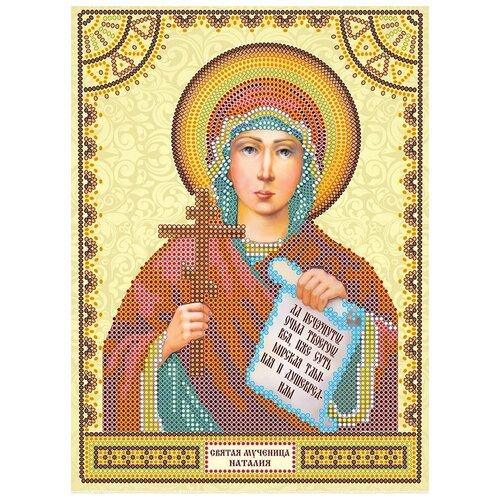 Схема для вышивки иконы бисером на холсте АБРИС АРТ АСK-008 Святая Наталия 17х23см