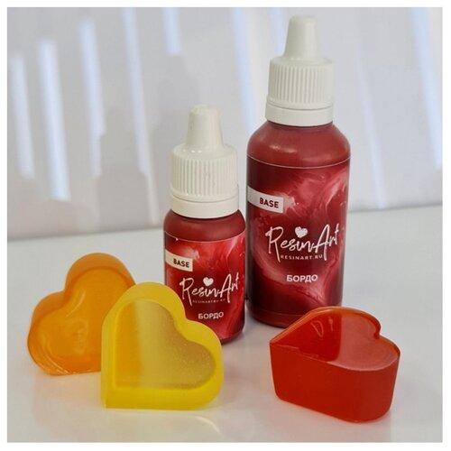 Купить Краситель для эпоксидной смолы ResinArt, бордо, 10 мл, Вспомогательные жидкости