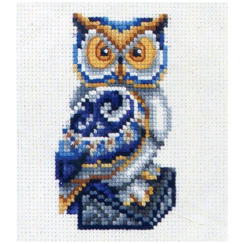 Сделай своими руками Набор для вышивания крестиком Статуэтки. Сова 10 х 12 см (С-30)