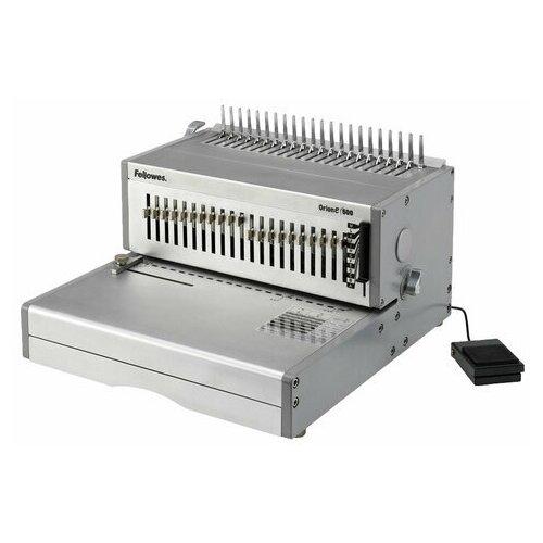 Переплетная машина для пластиковой пружины FELLOWES ORION-Е, электрическая, пробивает 30 листов, сшивает 500 листов, FS-56427, 1 шт.