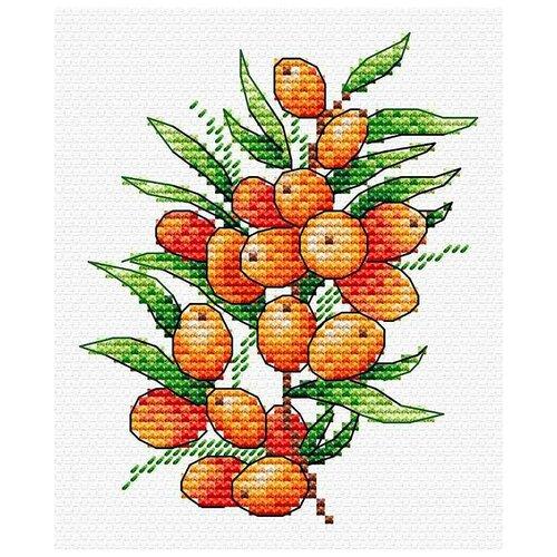 Купить М-591 Набор для вышивания МП Студия 'Облепиховое настроение' 12*10 см, М.П.Студия, Наборы для вышивания