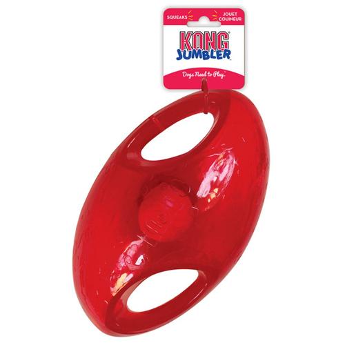 KONG игрушка для собак Jumbler Регби L/XL, синтетическая резина 23см Kong игр.д/с Регби синт.резина, L/XL, 23см