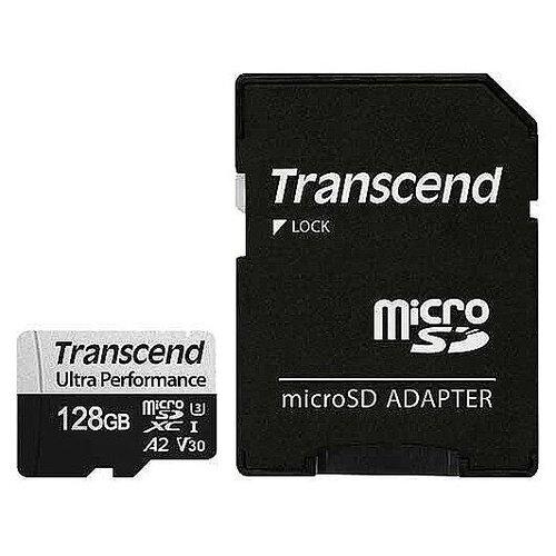 Фото - Карта памяти 128Gb - Transcend MicroSDXC 340S Class 10 UHS-I карта памяти sdhc 32gb transcend class10 uhs i